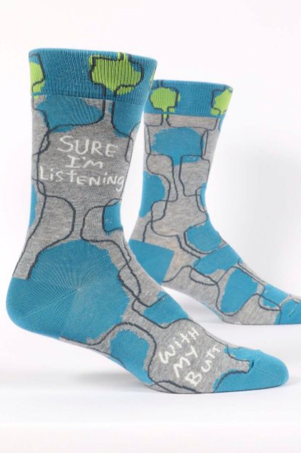 Sure I'm Listening Men's Crew Socks