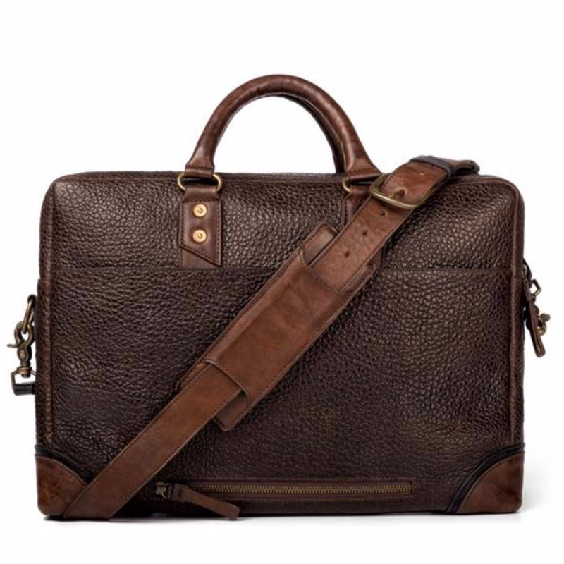 Theodore Leather Briefcase Espresso