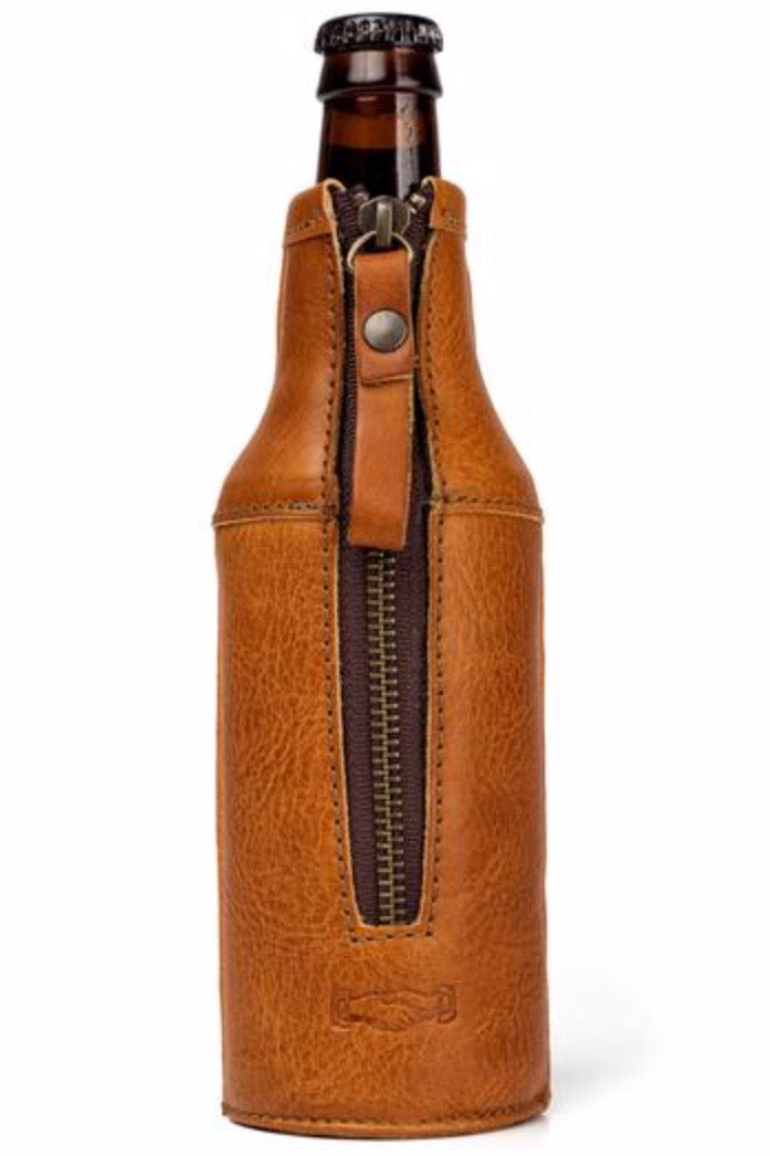 White Wing Legacy Leather Bottle Hugger Oak
