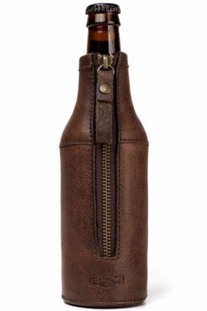 White Wing Legacy Leather Bottle Hugger Oil Dk Brown