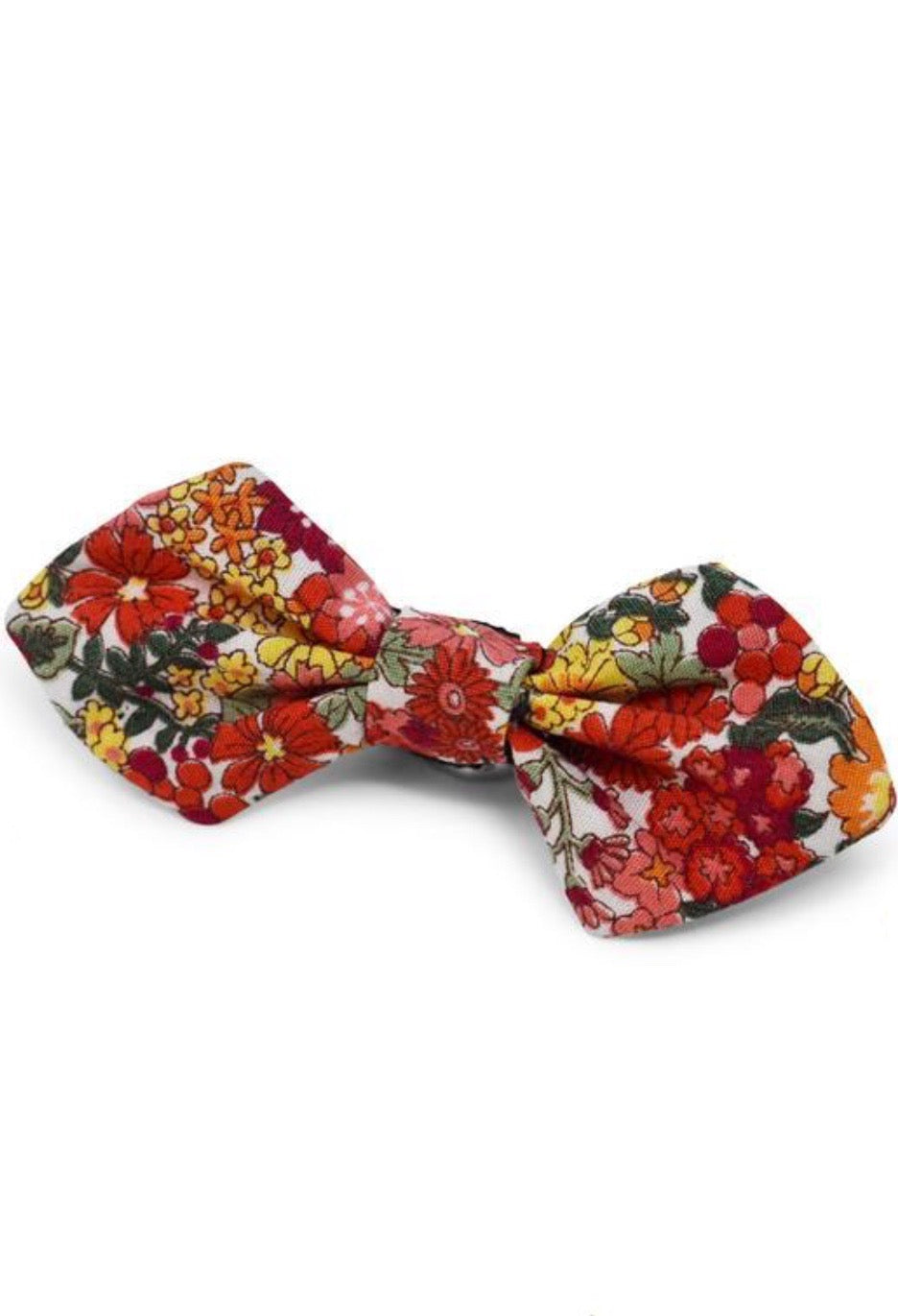 Dog Bowtie Red Floral Small
