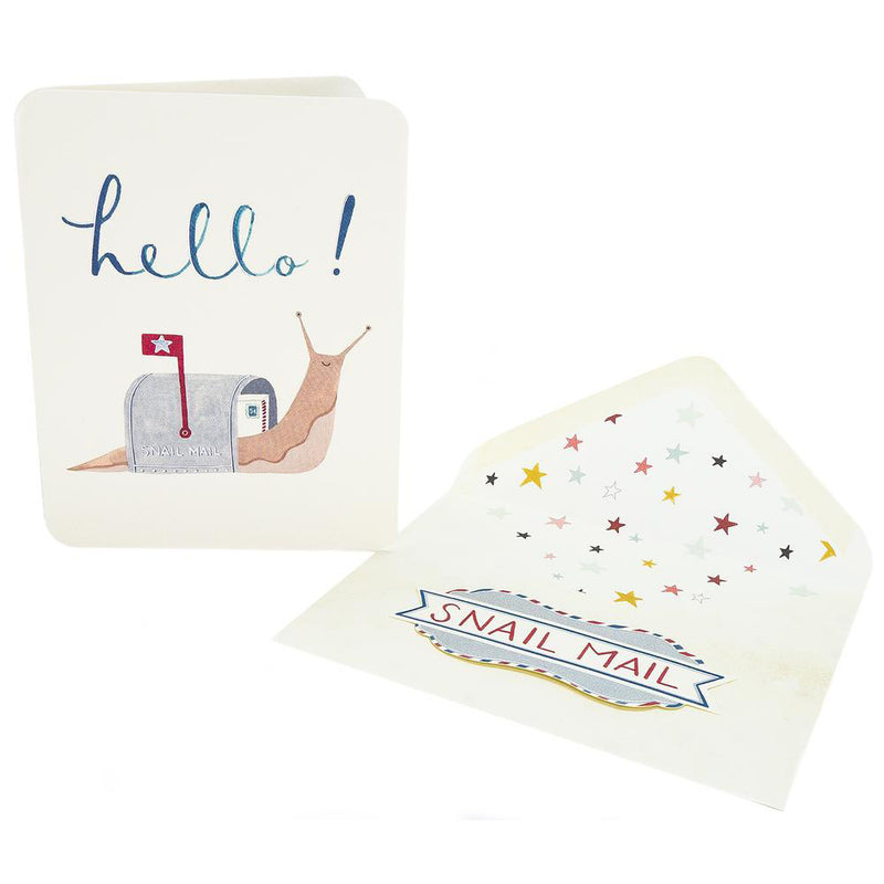 Deluxe Snail Mail - Greeting Card