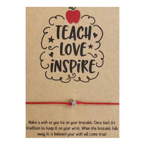 Teach Love Inspire Wish Card and Bracelet
