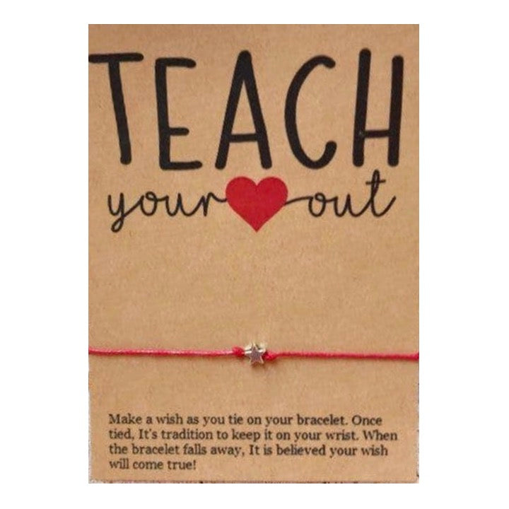 Teach Your Heart Out Wish Card and Bracelet