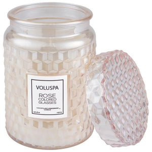 Voluspa: Rose Large Jar Candle