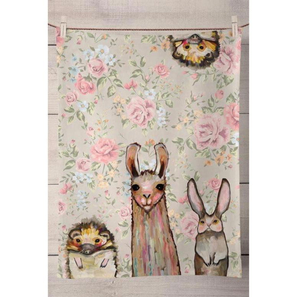 Baby Llama and Friends Tea Towel
