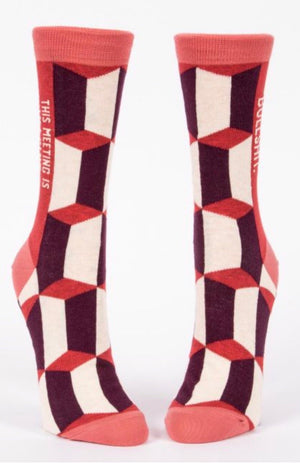 blue-q-SW470-this-meeting-is-bullshit-crew-socks-red