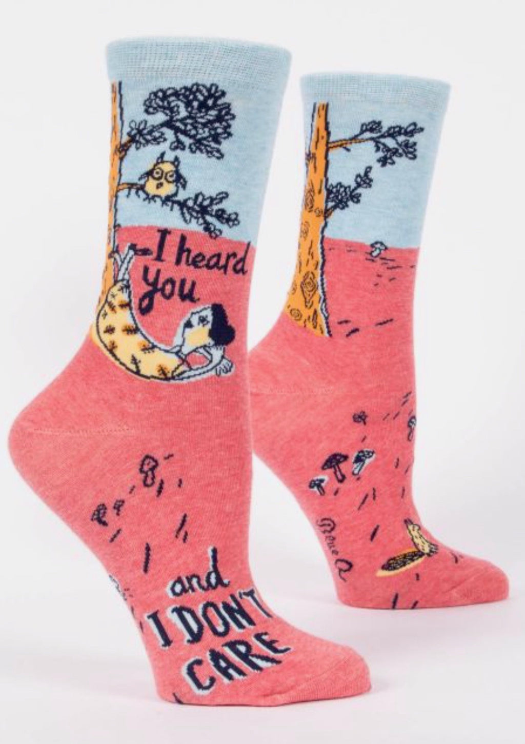 blue-q-SW479-i-heard-you-don't-care-crew-socks-pink