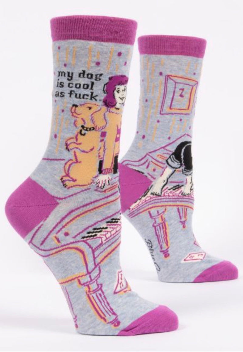 blue-q-SW501-my-dog-is-cool-as-fuck-crew-socks-purple