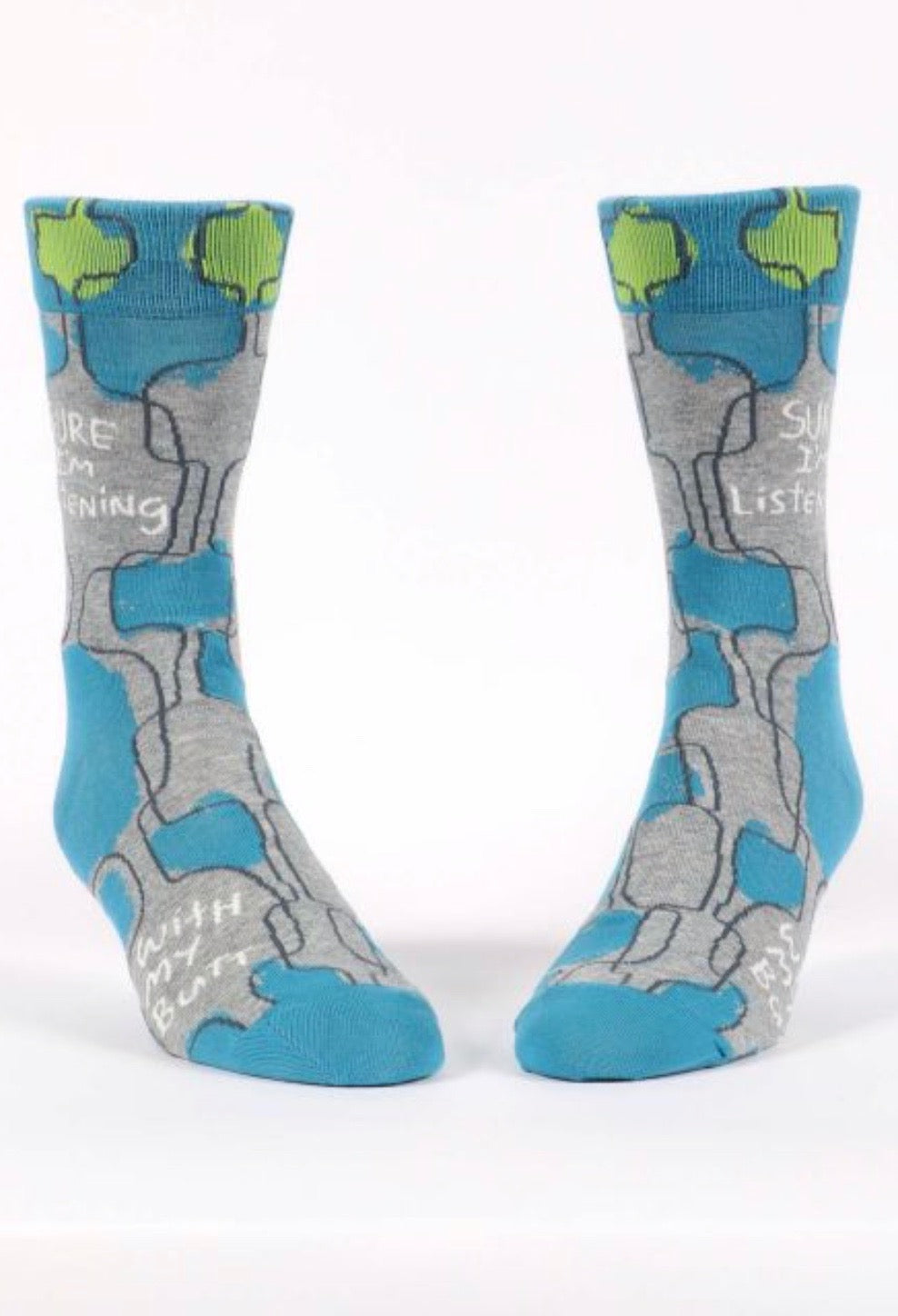 blue-q-SW825-sure-i'm-listening-mens-crew-socks-blue