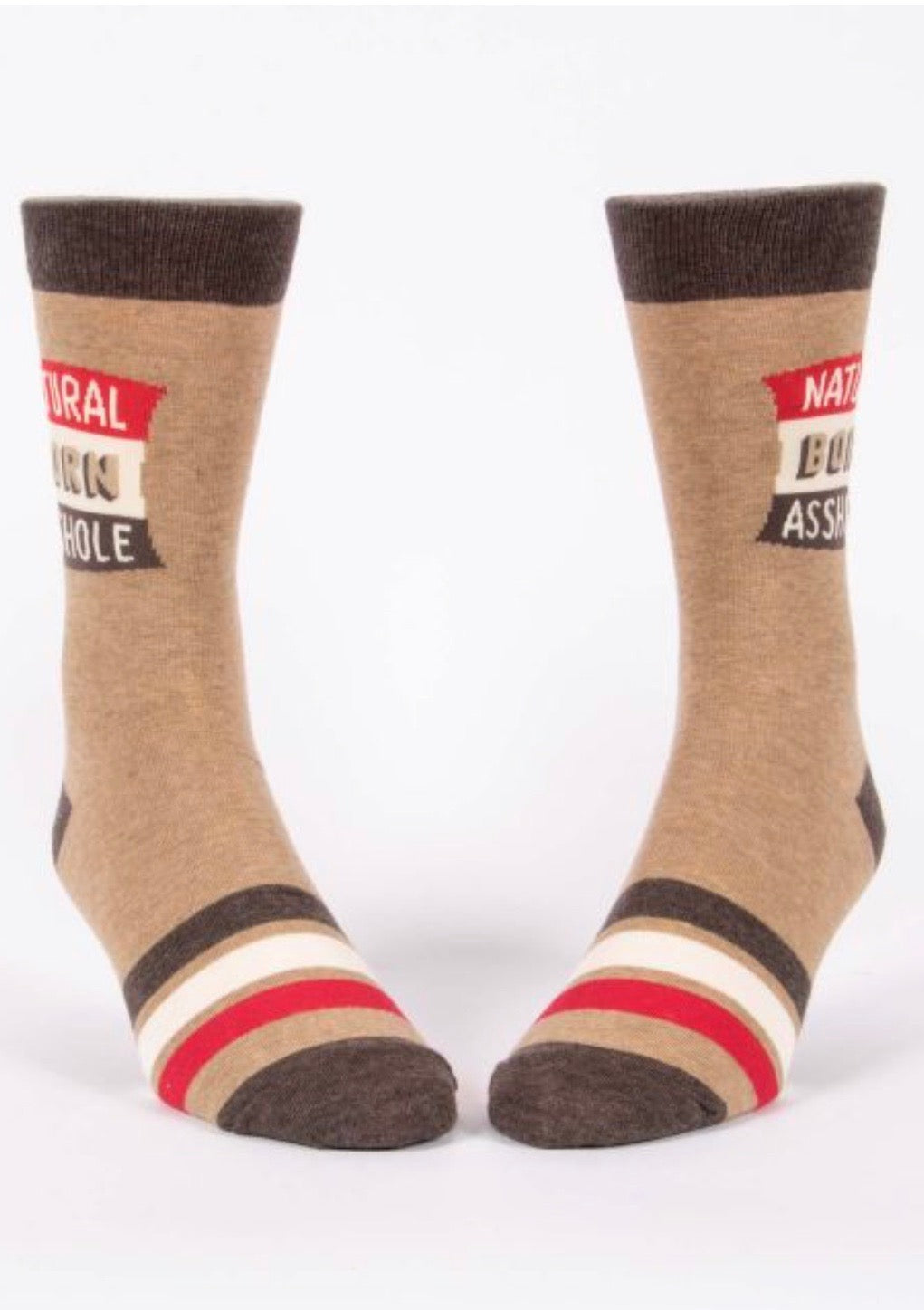 blue-q-SW840-natural-born-asshole-mens-crew-socks-brown