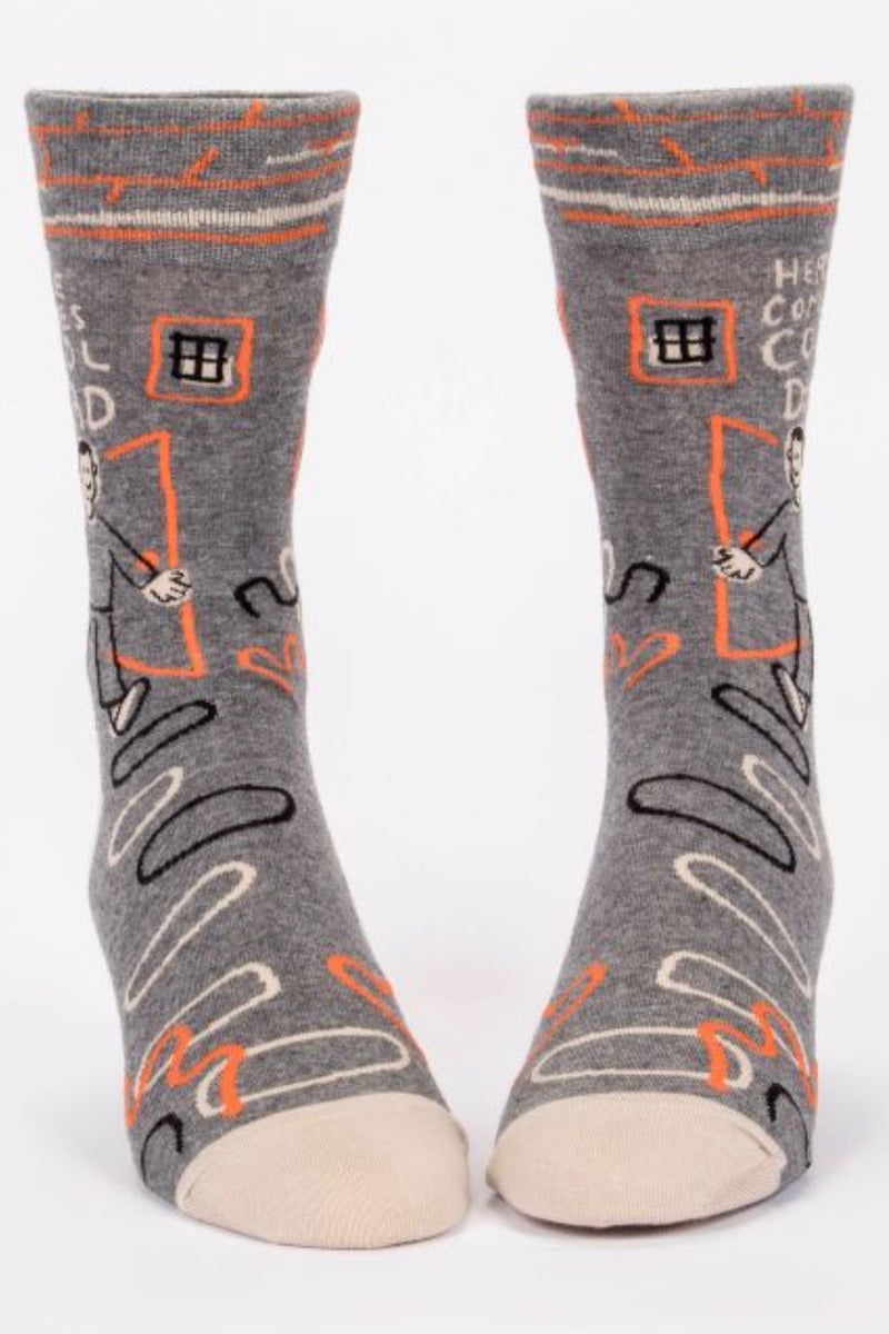 blue-q-SW857-here-comes-cool-dad-mens-crew-socks-grey