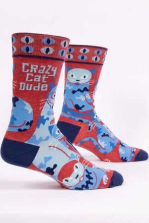 blue-q-SW870-crazy-cat-dude-mens-crew-socks-blue-red