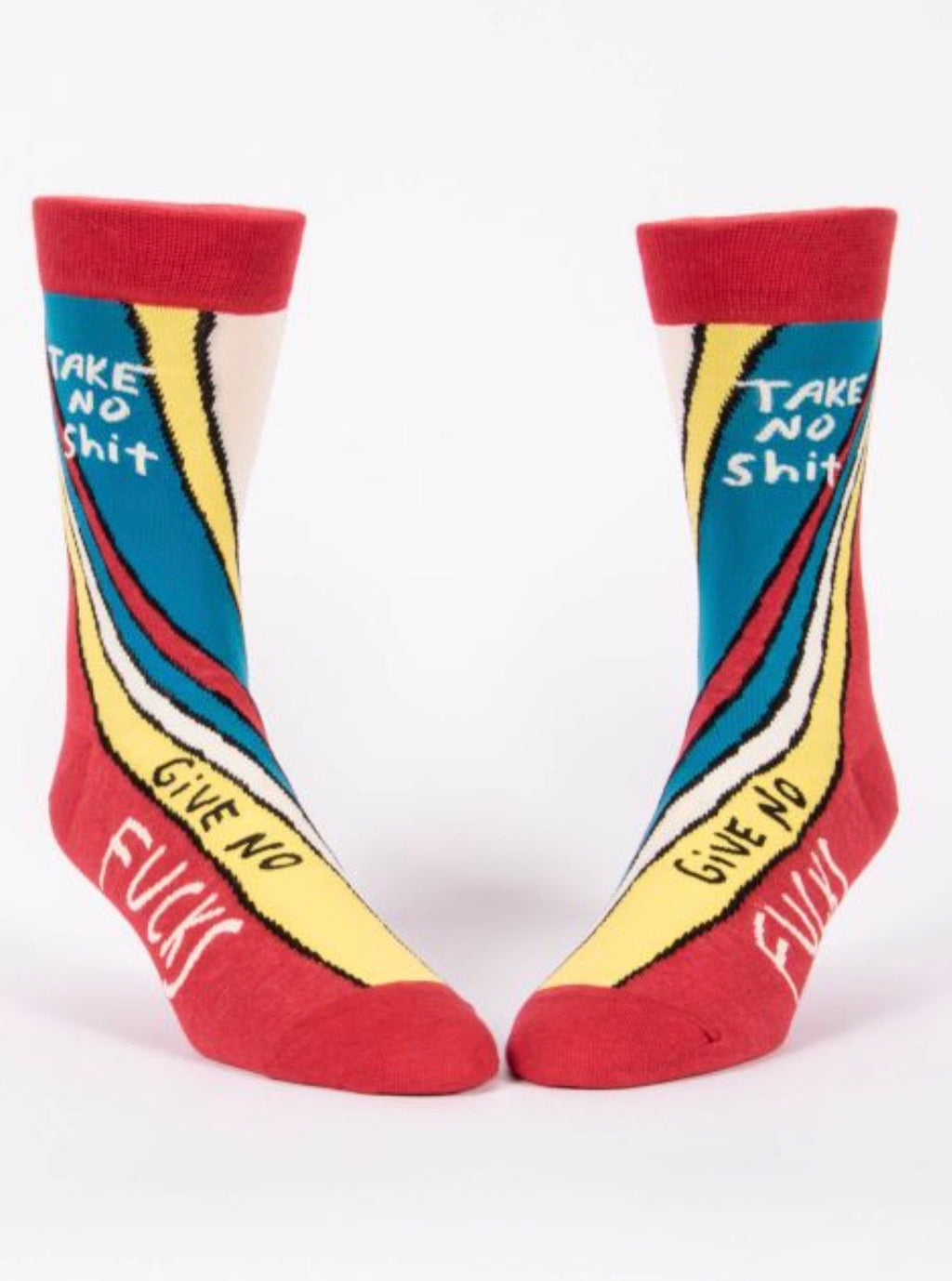 blueq-SW842-mens-crew-socks-take-no-shit-red