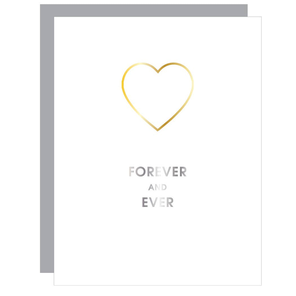 Forever and Ever - Heart Paper Clip Greeting Card