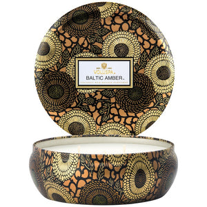 Voluspa: Baltic Amber 3 Wick Tin Candle