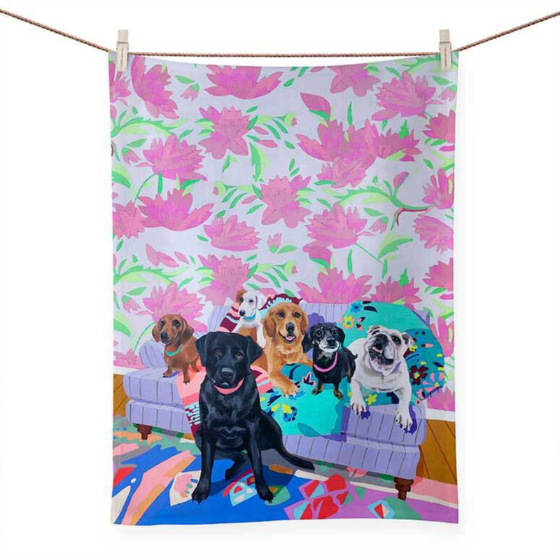 Dog Tales Tea Towel