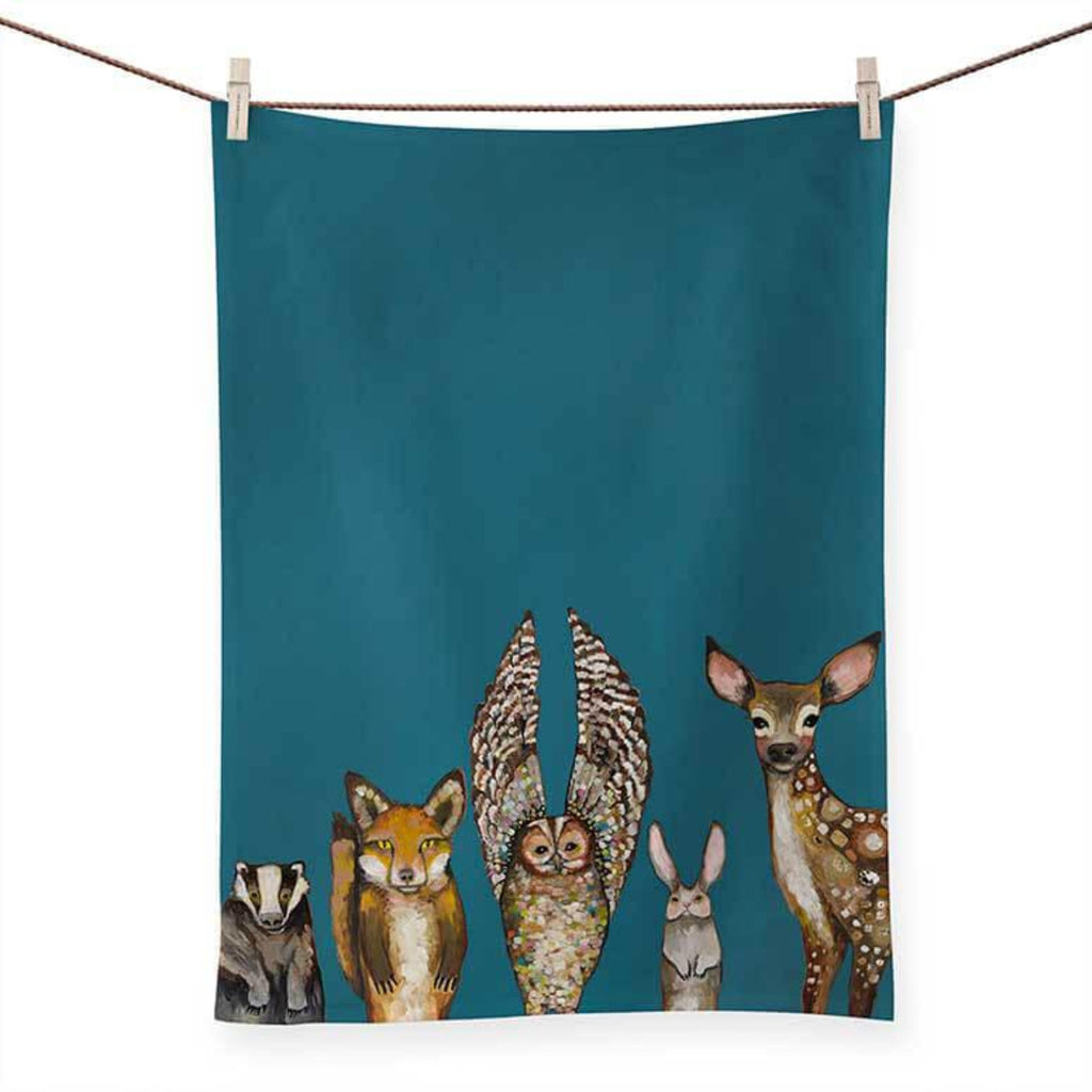 Forest Animals Tea Towel