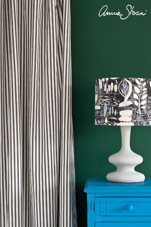 giverny-side-table_-amsterdam-green-wall-paint_-ticking-in-graphite-curtain_-dulcet-in-graphite-lampshade_-72dpi-image-3