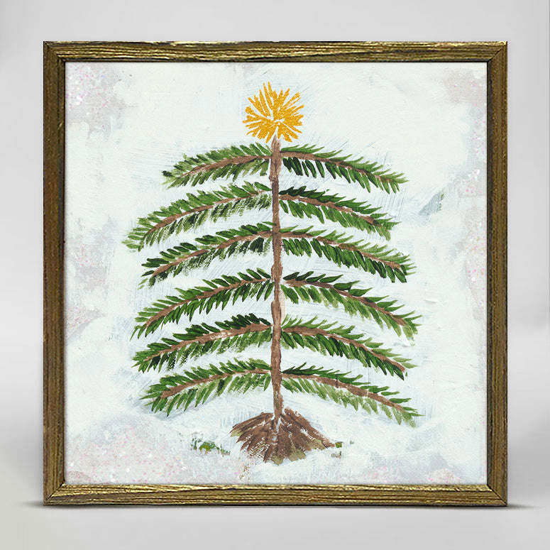 Forest Pine Evergreen 6x6 mini canvas framed