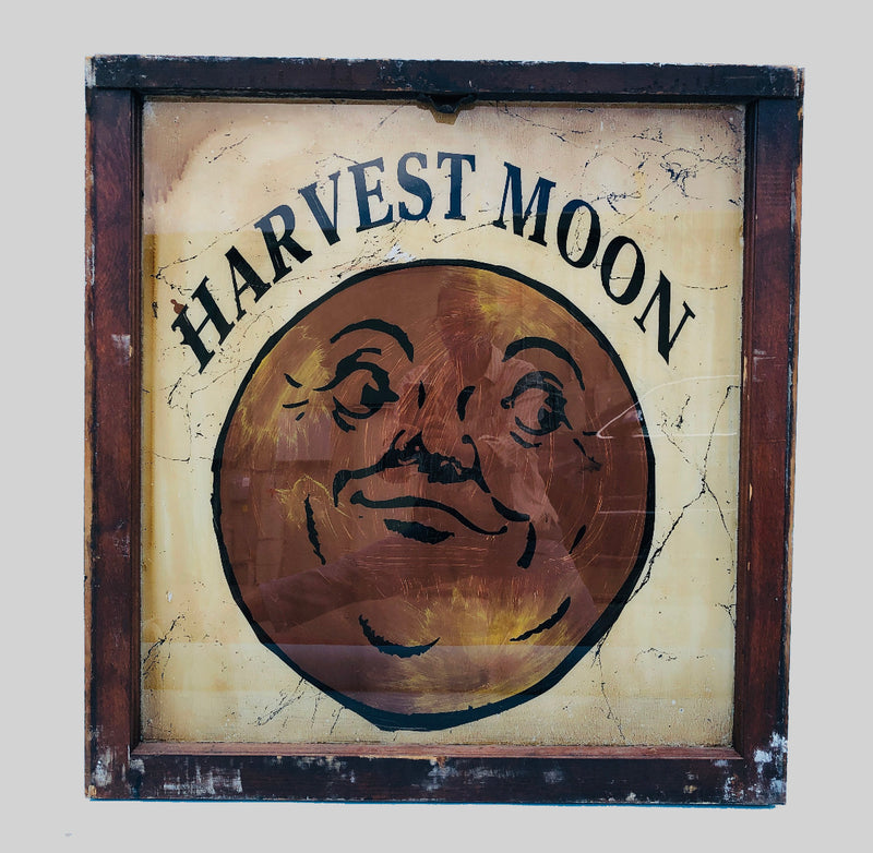 Harvest Moon Painted Antique Window Art