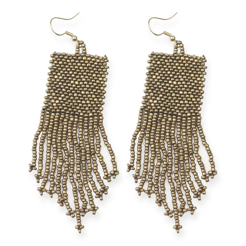 antique-gold-bead-solid-earrings