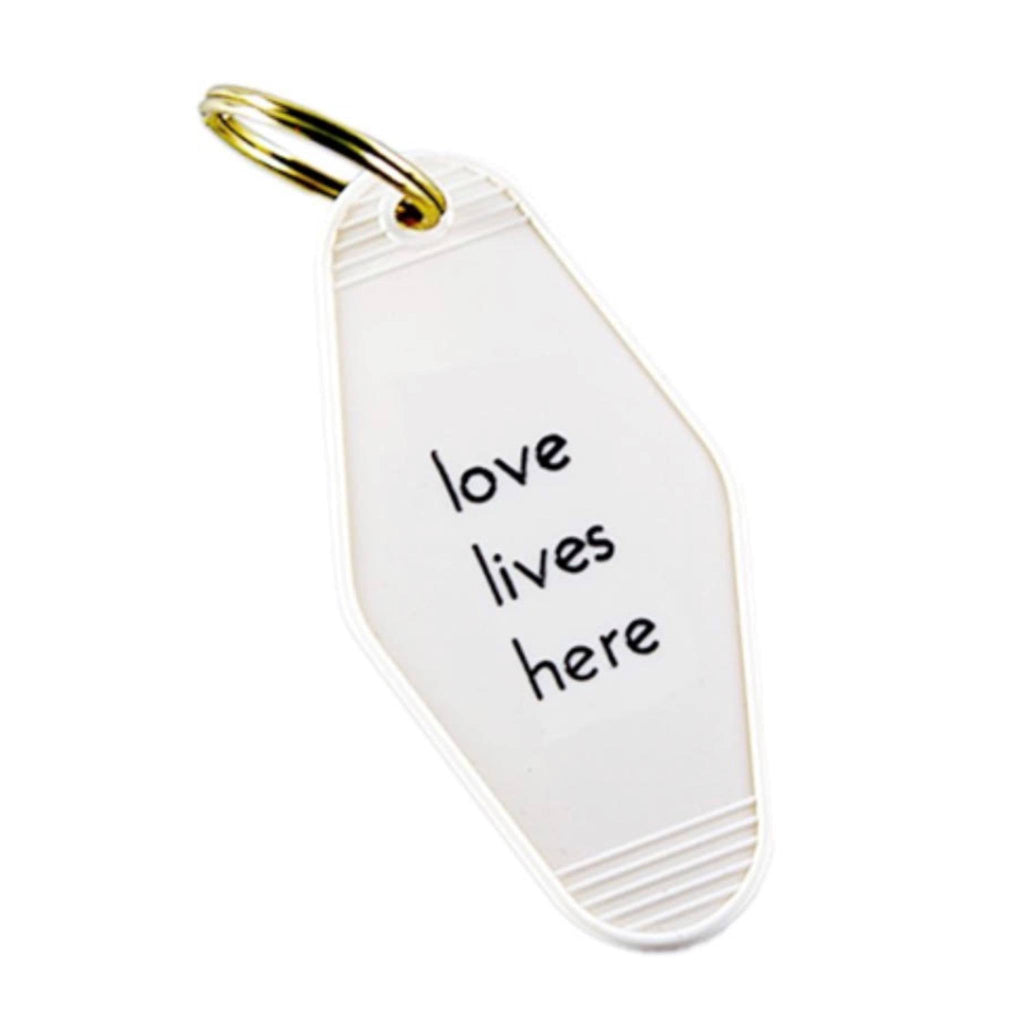 Love Lives Here Motel Key Tag