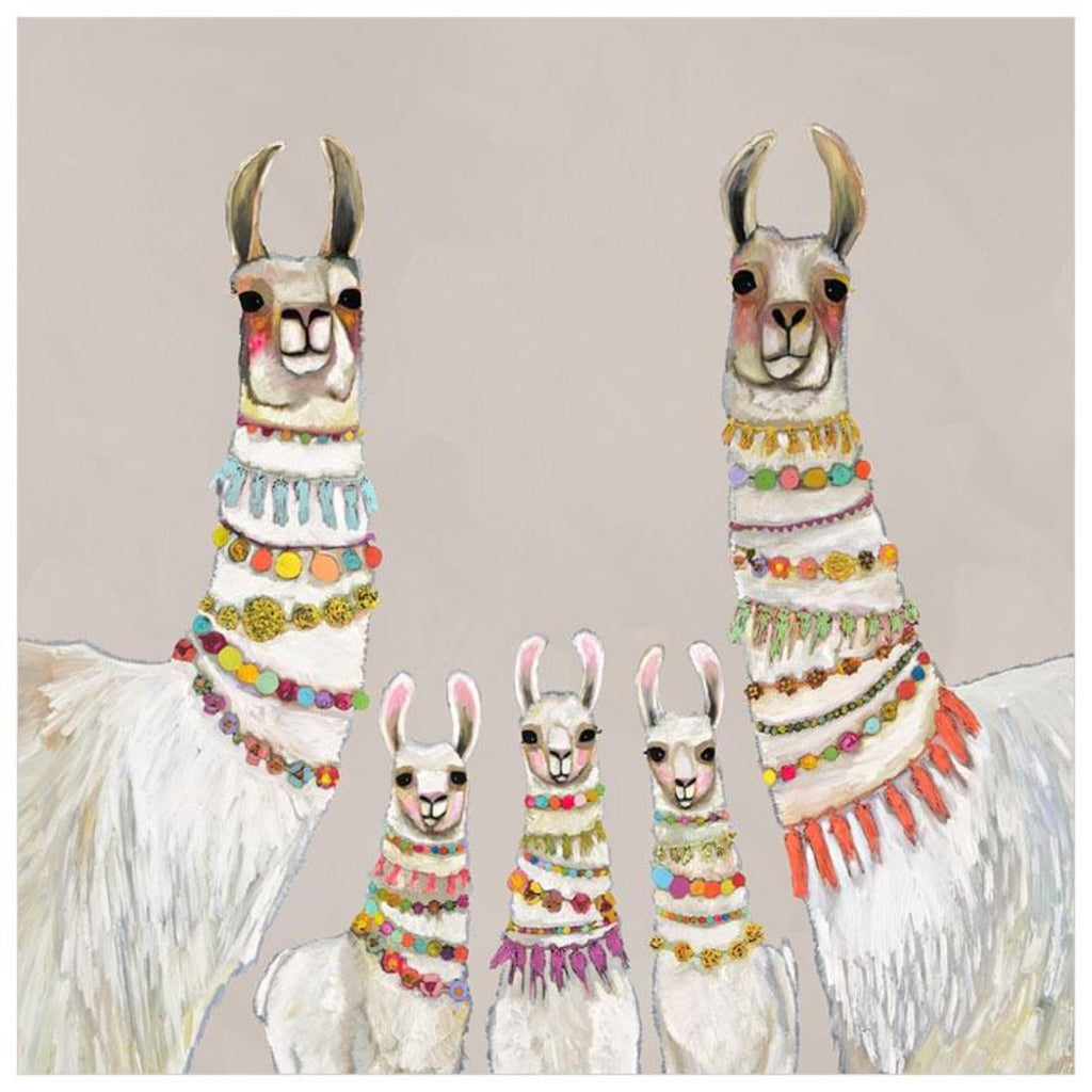 Necklaces Llama Neutral Canvas Wall Art 21x21