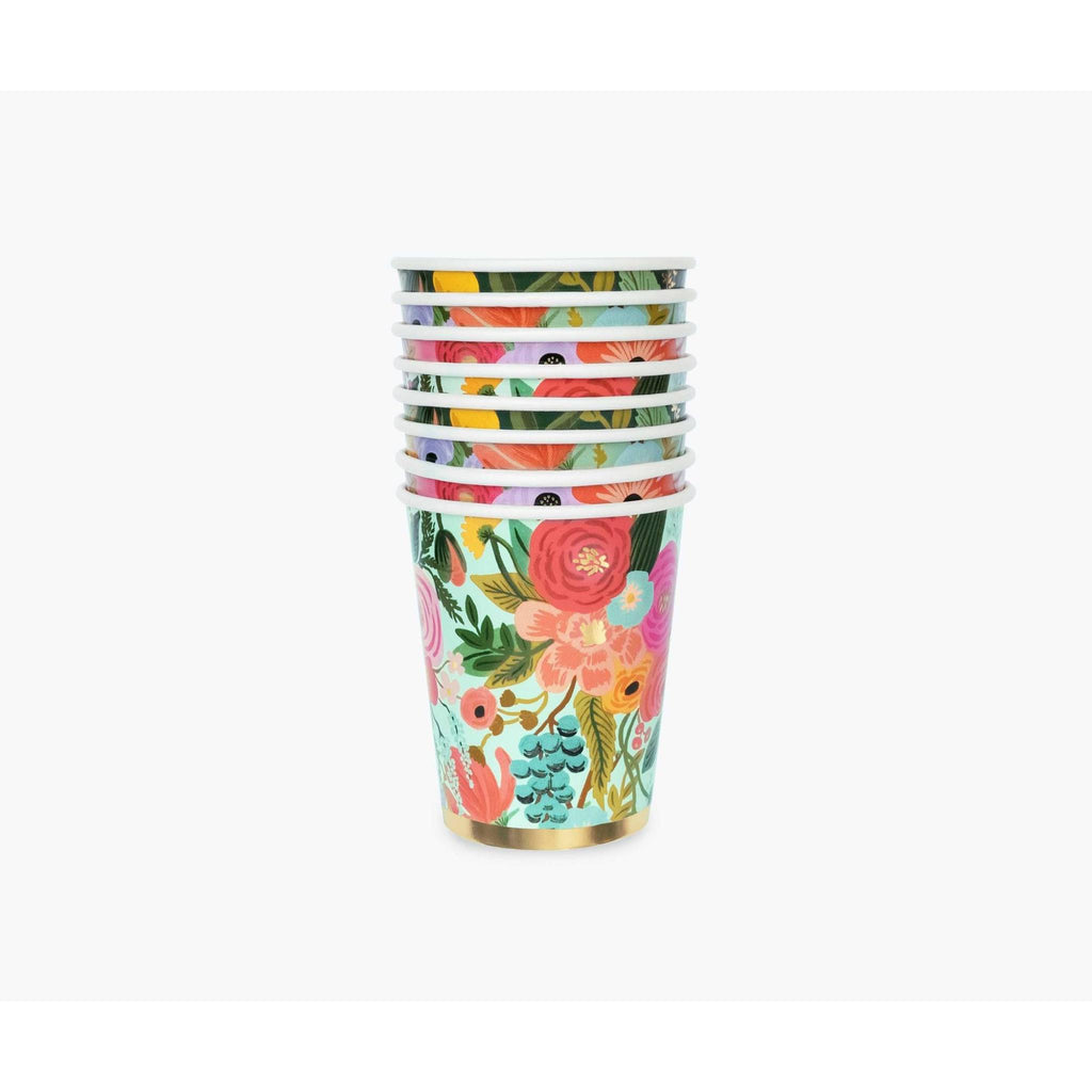 Rifle Paper Co: Garden Party Cups 8oz set/12