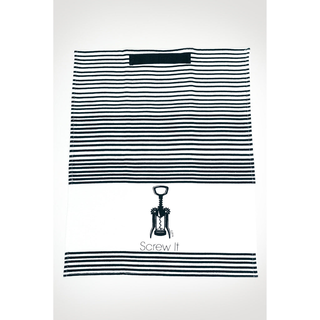 Screw It b/w striped small hand towel