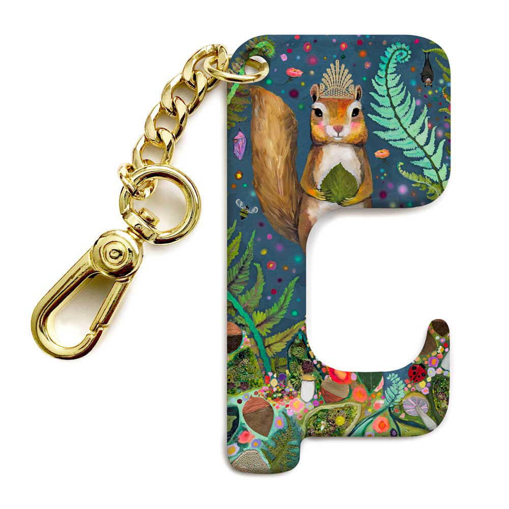 Squirrel Royale Hands-Free Door Opener Key Chain