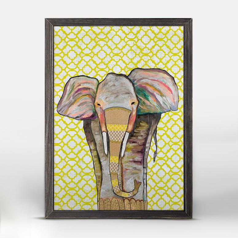 Trendy Trunk Black Mini Framed Canvas 5x7