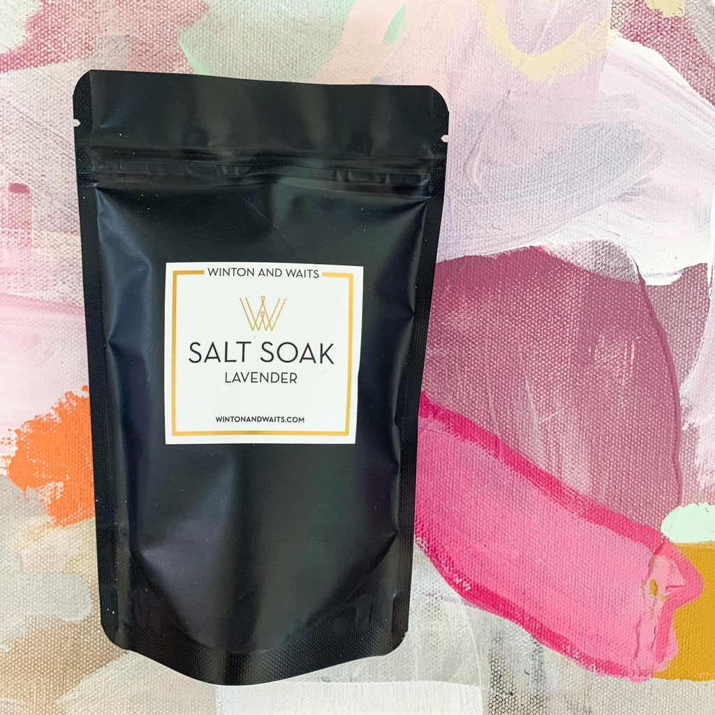 Lavender Salt Soak-Travel Size