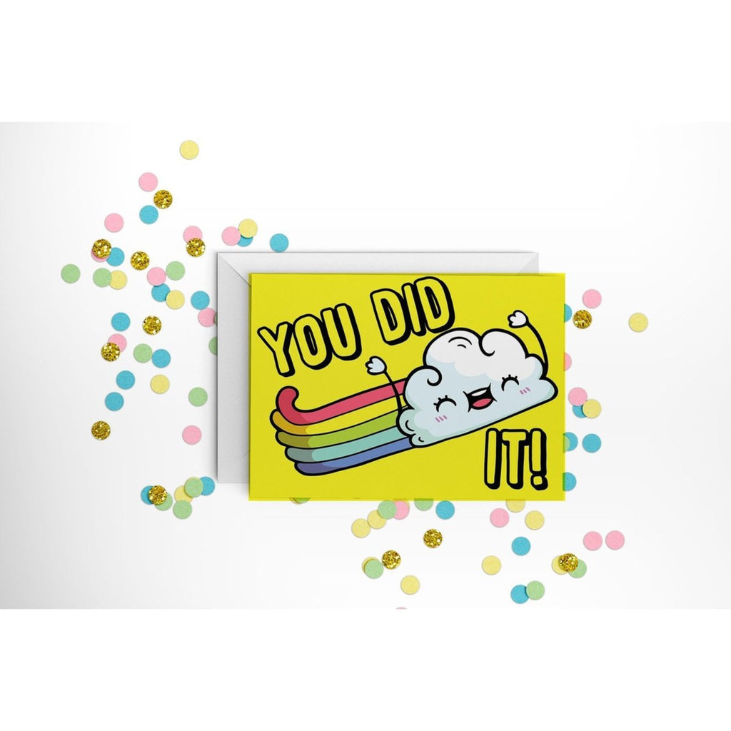 You Did it Cloud - Greeting Card