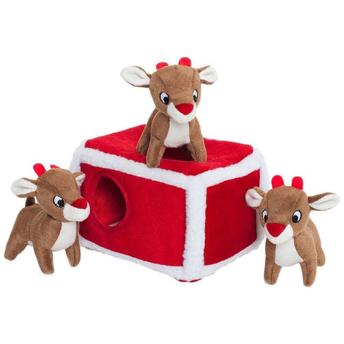 Reindeer Hide & Seek Dog Toy