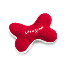 Life is Good Holiday Squeaky Bone Dog Toy