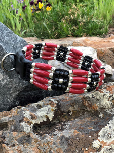Russet Sky Beaded Dog Collar