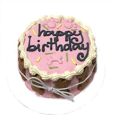 Pink Birthday Cake for Dogs