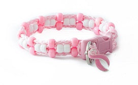 Pretty in Pink Beaded Dog Collar