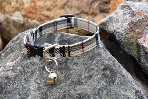 Designer Plaid Cat Collar