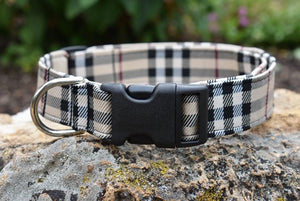 Designer Plaid Dog Collar