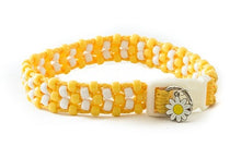 Yellow Daisy Beaded Dog Collar