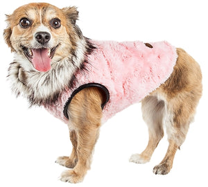 Pinkachew Charming Designer Mink Fur Dog Coat