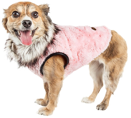Pinkachew Charming Designer Faux Mink Fur Dog Coat