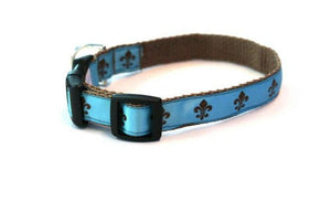 Fleur de Lis Adjustable Dog Collar