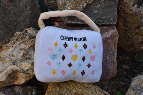 Chewy Vuiton Purse Dog Toy