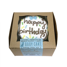 Blue Birthday Baby Cake