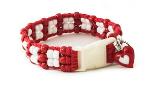 Valentine Beaded Dog Collar