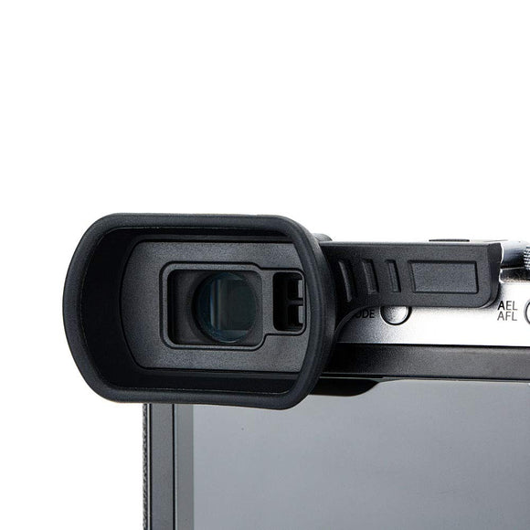KE-X100FL Camera Eyecup for Fujifilm X-X100F (Installed and Secured via Camera Hot Shoe)