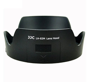 JJC LH-83M Lens Hood for Canon EF 24-105mm (as EW-83M) inc. filter window for CPL and ND filters